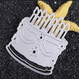 Large Birthday Cake Metal Die Cut